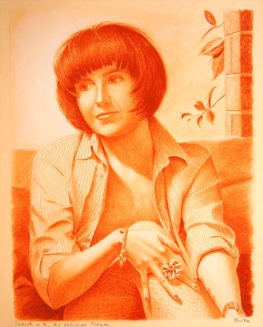 Fabiana - Sanguigna su carta - 50 x 40 cm