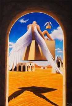 Il sonno degli angeli - Olio su tela - 50 x 35 cm
