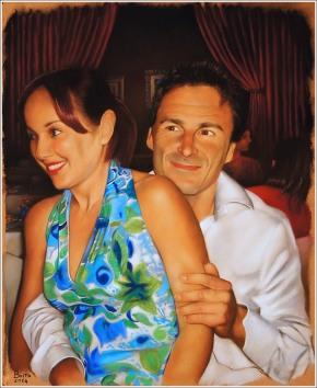 Max e Alessandra - Pastelli su carta Sennelier - 47 x 39 cm