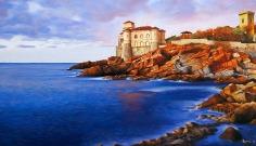 Castel Boccale - Olio su tela - 60 x 35 cm